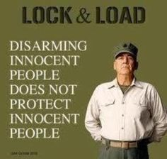 Disarming innocent people does not protect innocent people, it only protects the criminals and miscreants.