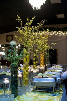 Lemon and Lime table #buffetsetting #rozziscatering