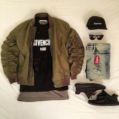 Outfit grid - Bomber day