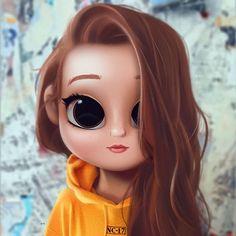 Cartoon, Portrait, Digital Art, Digital Drawing, D… Cute Girl Drawing, Cartoon Girl Drawing, Cartoon Drawings, Cartoon Art, Kawaii Drawings, Cute Drawings, Kawaii 365, Cute Cartoon Girl, Disney Drawings