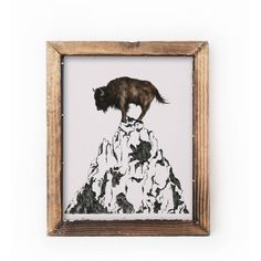 Becci Mary Anne - Buffalo Mountain Print (53 CAD) ❤ liked on Polyvore featuring home, home decor, wall art, mountain home decor, mountain wall art and watercolor wall art