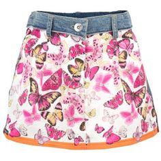 D Junior Butterfly Denim Skirt... soooo Tilly!