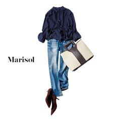 週末はデニムコーデで。引っ越しにむけて後輩を家に招いて断捨離三昧!【2018/1/21コーデ】Marisol ONLINE|女っぷり上々!40代をもっとキレイに。