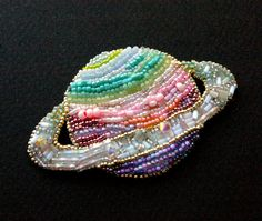 PLANET bead embroidery от fionabearclaw на Etsy