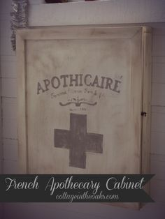 French Apothecary Cabinet How-To #diy