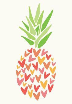 Pineapple Hearts - 7x10 / NAT