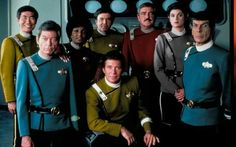 The Star Trek movie jackets redone in the TV series uniform colors...