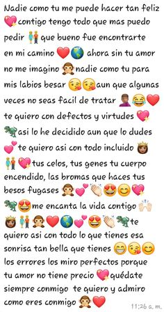 Cute Texts For Him, Text For Him, Cute Spanish Quotes, Funny Spanish Memes, Love Phrases, Love Words, Quotes For Him, Love Quotes, Happy Aniversary