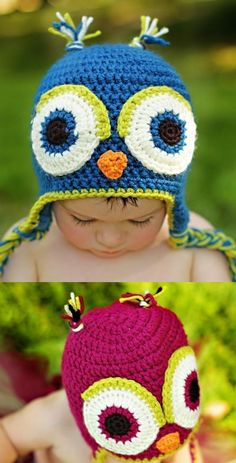 cute childs owl beenies