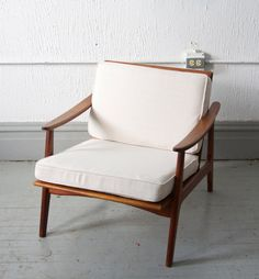 RESERVED Mid Century Modern Danish Style Lounge Chair 50s 60s