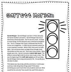 Black History Month: Garrett Morgan Freebie