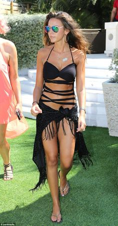 Michelle Keegan shows off her bikini body in a sexy swimsuit in Ibiza Ibiza Outfits, Ibiza Fashion, Bikini Fashion, Women's Fashion, Shops, Lingerie, Black Swimsuit, Bikini Bodies, Sensual
