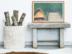 On the Dock  Artfully designed rustic lake house home decor. Whether he loves boating, fishing, or the relaxing Lake Life in general, this instant download boat artwork printable will make the perfect gift for the guy in your life.  INSTANT DOWNLOAD  This listing is for an instant download. This means you will not be shipped any physical product. This is a beautiful wall art design that you can download and print at home, at your local print shop, online, or anywhere that you like.  PRINT…