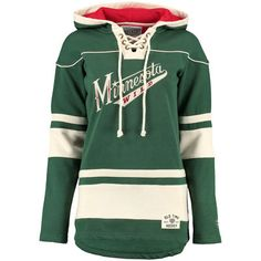 ba4cfa95f Women s Minnesota Wild Old Time Hockey Green Alternate Lacer Heavyweight  Hoodie