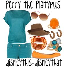 Perry the Platypus, created by disneythis-disneythat on Polyvore