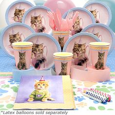Cat Theme Party Supplies
