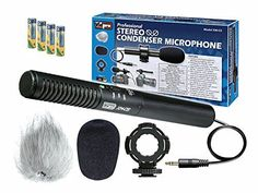 Introducing Sony HDRUX7 Camcorder External Microphone Vidpro XMCS Condenser Stereo XY Microphone Kit for DSLRs video camcorders and audio recorders  With a Pack of 4 AA NiMH Rechargable Batteries  2800mAh. It is a great product and follow us for more updates!