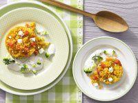 Rezept: Konfetti-Couscous mit Rahmgemüse