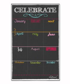 Black Fluorescent Dry-Erase Magnetic Birthday Board - - - I COULD MAKE THIS!