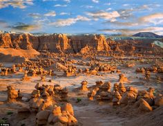 But the mushroom like structures and hiking trails winding through this unearthly landscap...