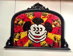Mutated Mickey by Carrie Reichardt. Made from fired, hand-coloured, ceramic tiles with rare and hand-made transfers, this is a classic example of Carrie's pop mosaics. Bold Colors, Colours, Keith Haring, Third Eye, Hand Coloring, Color Show, Carrie, Carry On, Mosaic
