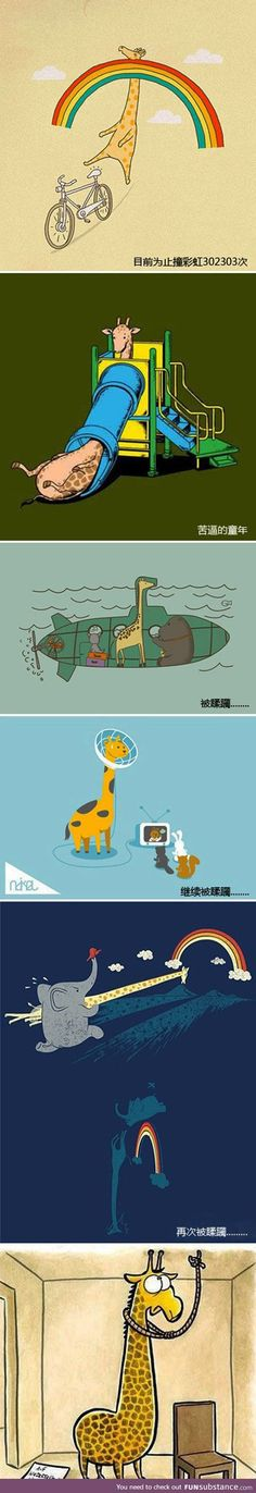 Pros and cons of being a giraffe