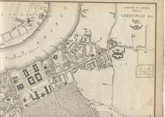"""Victorian map of Historic London  Greenwich , Blackheath Suburbs, date 1863 ( not a copy)  folding  map from an Atlas Folding Map.  The area shown is Greenwich and Blackwall in the Borough of Greenwich , River Thames and Maritime / Naval interest  PROVENANCE: """"Cassell's Complete Atlas"""" (a.k.a. """"The Weekly Dispatch Atlas""""), Published by Cassell, Petter and Galpin, London (Dispatch London maps) [Cassell's Weekly Dispatch Atlas] London Map, River Thames, United Kingdom, Vintage World Maps, Europe, Victorian, Antiques, Antiquities, England"""