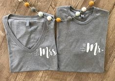 The Mrs. and Mr. Shirt Set Newly Weds Shirt Set Honeymoon