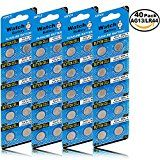 #9: JOOBEF 40 Pack Watch Alkaline Battery Button Cell LR44 AG13 Pack of 40 Batteries #movers #shakers #amazon #electronics #photo