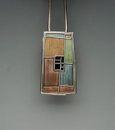 Secret Life of Jewelry - A Universe of Handcrafted Art to Wear: Inspired Enamels - Carly Wright Jewelry Ceramic Jewelry, Enamel Jewelry, Ceramic Beads, Sea Glass Jewelry, Silver Jewellery, Keep Jewelry, Jewelry Art, Jewlery, Jewelry Design