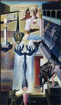 Painting by Salvador Dalí, 1929-32, L'homme invisible (El hombre invisible), oil on canvas, Museo Reina Sofia.