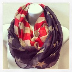 American Flag Infinity Scarf - $25 – Military pride. Milso apparel clothing. army navy marine corps air force coast guard patriotic At Ease Designs
