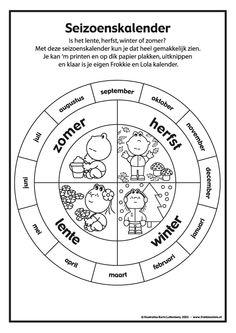 seizoenskalender Primary School, Pre School, Sunday School, Learn Dutch, Dutch Language, School Items, How To Speak French, Best Teacher, Teaching Tools
