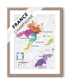 France: Champagne Wine Map