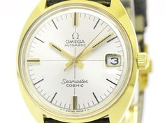 Vintage #OMEGA Seamaster Cosmic Gold Plated Automatic Mens Watch 166.023 BF108965: Authenticity guaranteed, free shipping worldwide & 14 days return policy. Shop more #preloved brand items at #eLADY: http://global.elady.com