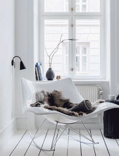 Cozy corner in a nordic living room