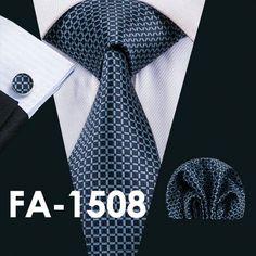 New Arrival Men`s Tie Novelty Silk Jacquard Woven Necktie Handkerchief Cuff link Set For Men`s Business Wedding Party