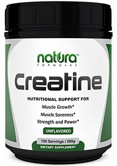 Pure Creatine Monohydrate Powder | 100 Servings - 500g | Unflavored