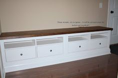 Mudroom bench using ikea