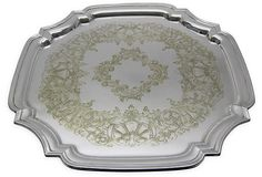 Engraved Chippendale Silverplate Tray on OneKingsLane.com