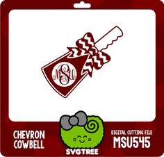 Cowbell Monogram Bow Monogram Mississippi State SVG by SVGTREE