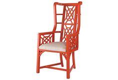ONE KINGS LANE Kings Grant Chair, Coral