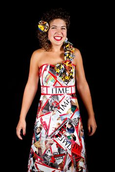 Trash Fashion ~ a dress made out of TIME magazines and more...