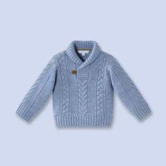 Baby Knitting Patterns Boy Shawl collar wool sweater for baby, boy Baby Boy Knitting Patterns, Baby Sweater Patterns, Knit Baby Sweaters, Baby Clothes Patterns, Wool Sweaters, Free Knitting, Baby Boy Cardigan, Baby Pullover, Baby Shawl
