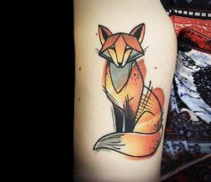 Fox tattoo by Olga Sienkiewicz