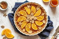 Gingerbread Orange Tart | Gluten free * Dairy free * Egg free