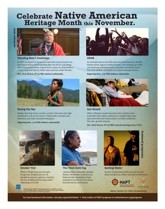 """How will you be celebrating Native American Heritage Month this November? Embrace this time of year by viewing Native Stories on PBS such as """"Standing Bear's Footsteps"""", """"GRAB"""", """"Racing the Rez"""", """"Sun Kissed"""", """"Smokin' Fish"""", """"The Thick Dark Fog"""", and """"Barking Water""""!"""