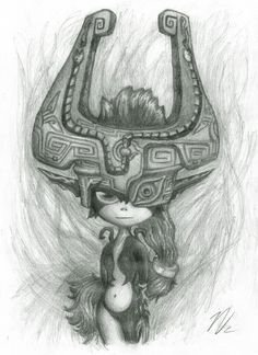 crazy drawing of Midna. favorite character of legend of zelda twilight princess!