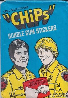 CHiPS Wax Pack Trading Cards by Donruss, 1979 by kerrytoonz, via Flickr