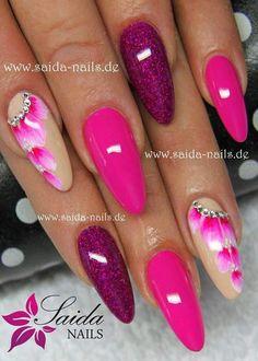 Pin by sharon green on nails! Cute Acrylic Nails, Acrylic Nail Designs, Nail Art Designs, Fancy Nails, Pretty Nails, Chloe Nails, Dream Nails, Stylish Nails, Purple Nails